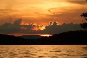 Sunset on Lake Blue Ridge