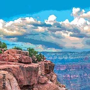 Landscape view of cliffs