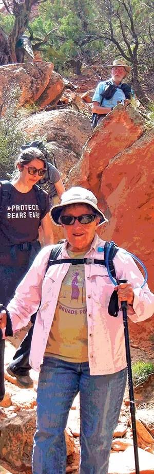 A group of Broads hiking at Bears Ears