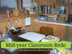 Mid-year classroom redo at Great Peace Academy