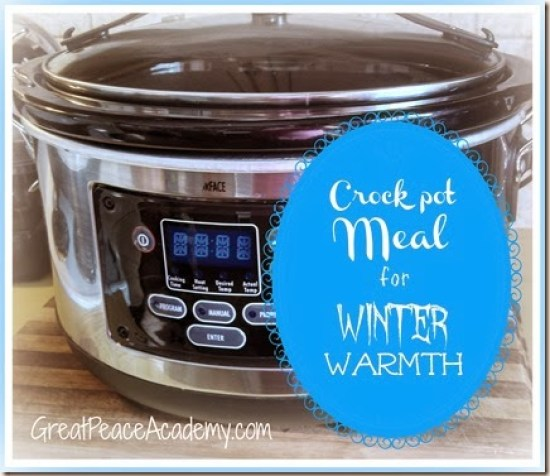 Crock Pot Meal for winter warmth from Renée at Great Peace Academy http://www.greatpeaceacademy.com