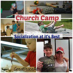 Church camp for socialization, an ideal combination. Great Peace Academy