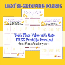 Learning Place Value with LEGO Re-Grouping Boards