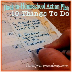 Back to Homeschool To Do List