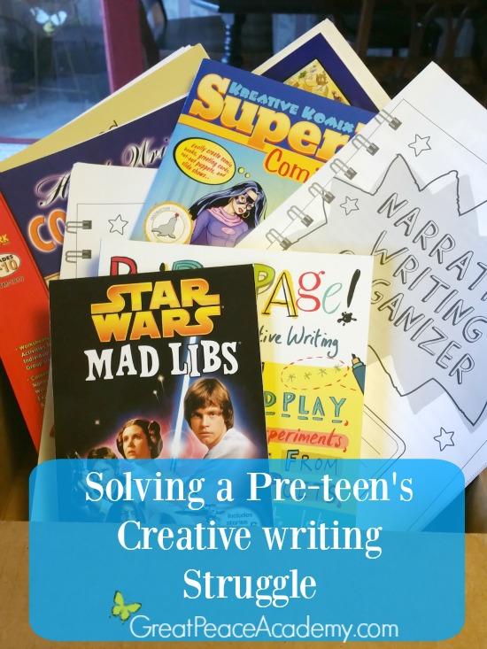 Solving creative writing struggle   Great Peace Academy #ihsnet @rainbowresourc1