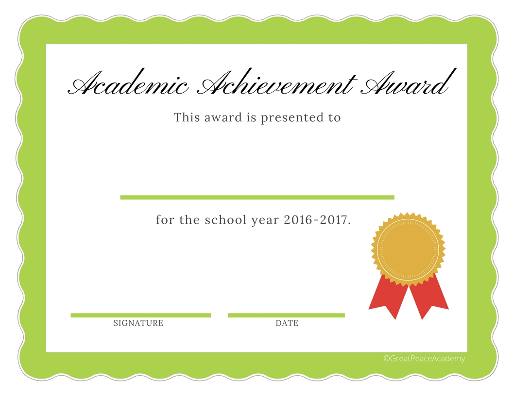 End of the Year Homeschool Award Certificates for 2016 – Certificates Free Download Free Printable