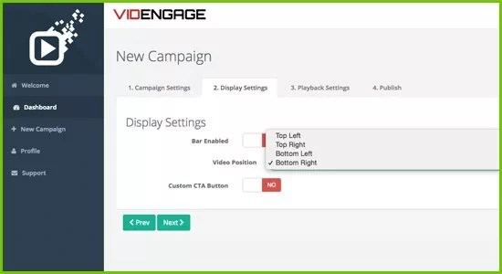 VidEngage Software Dashboard