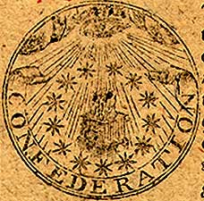 Emblem on Continental Currency $40 note (1778)