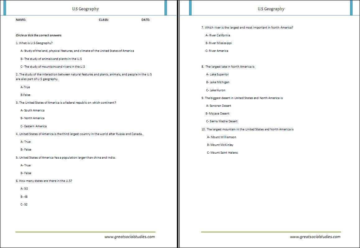 Kindergarten Geography Worksheet Poles