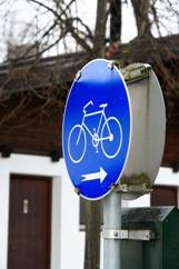 Bike traffic sign