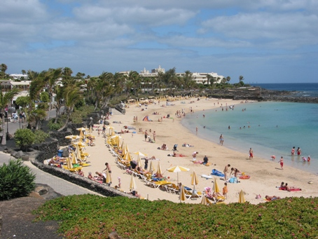 One of the many beaches in Lanzarote