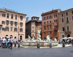 The fountains of Piazza Navona in Rome