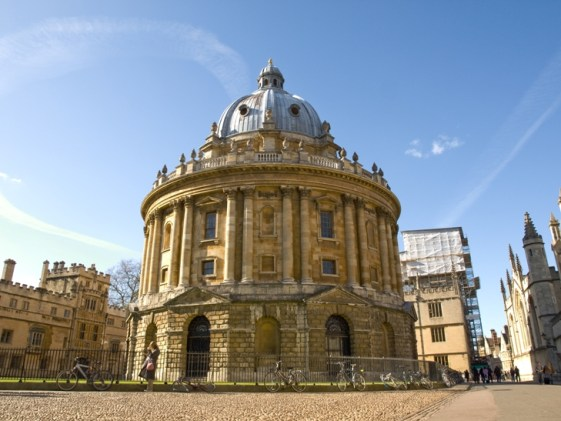 The Radcliffe Camera houses the science library