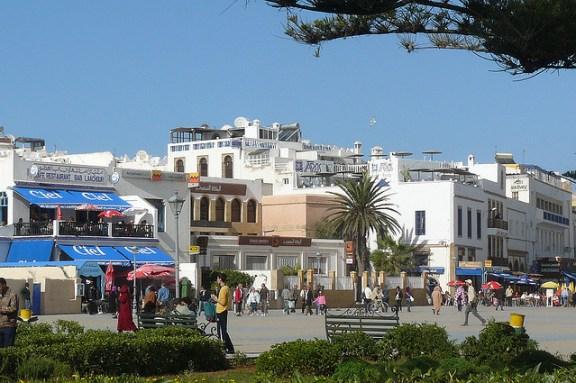 Main square in Essaouira, Morocco