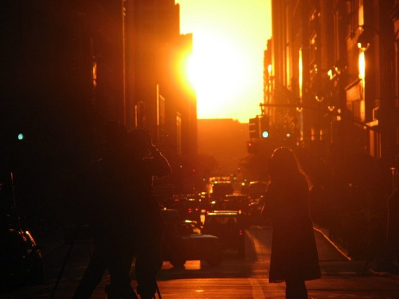 The phenomenon of Manhattanhenge