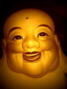 Joyful Buddha on spiritual journey