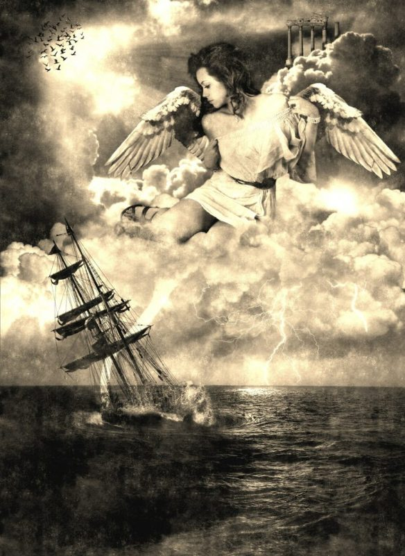 angel-saving-sinking-ship-hurricane