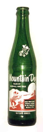 Early Mountain Dew soda bottle