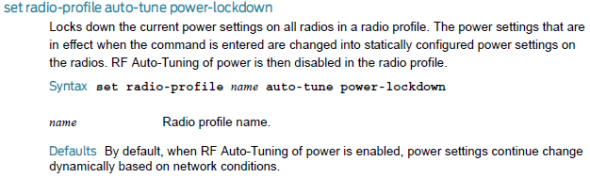 rf auto tune power lockdown