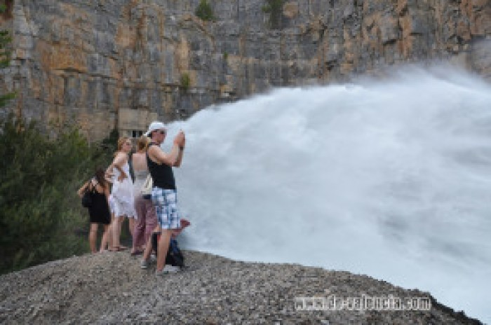 Dam near Montanejos Spain, El Chorro