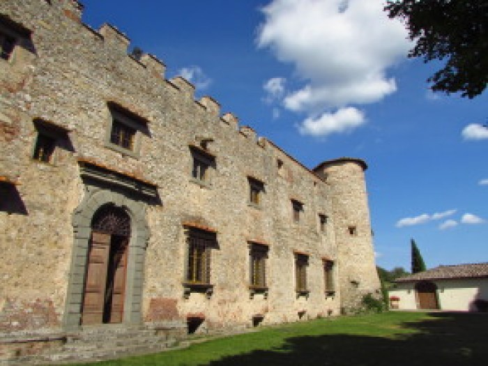 Castello di Meleto, Chianti, Italija, Toskana