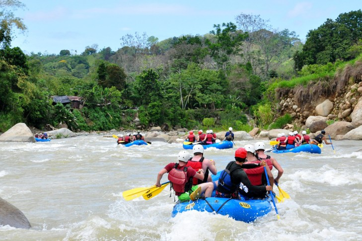 white water rafting, costa rica, monteverde