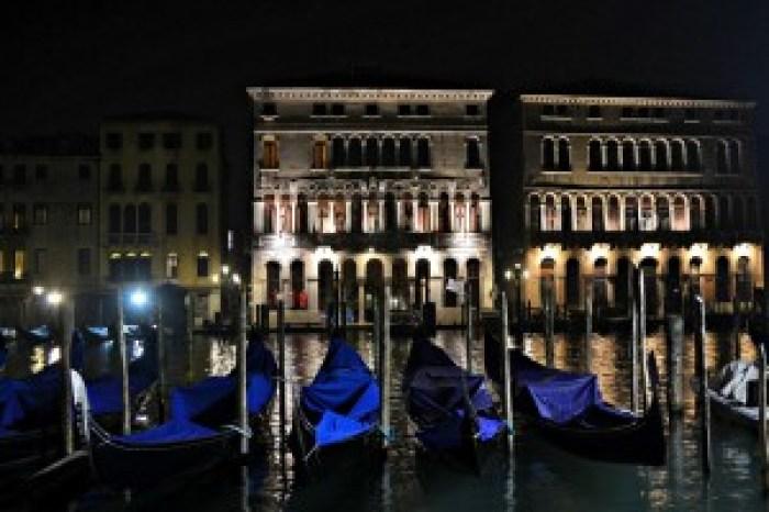 Venecija, vakaras, Gondola, Italija