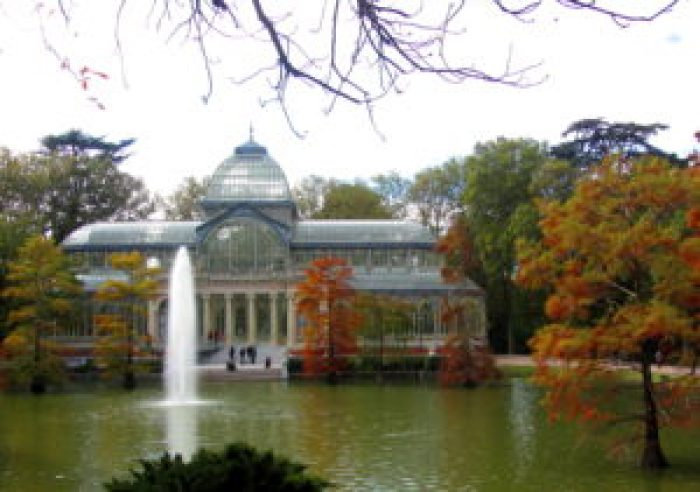The Crystal Palace in Retiro Park in Madrid, Spain