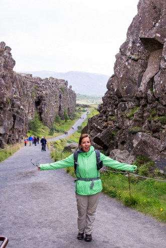 Continental Divide Thingvellir Iceland