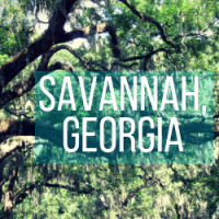 One Day in Savannah, Georgia