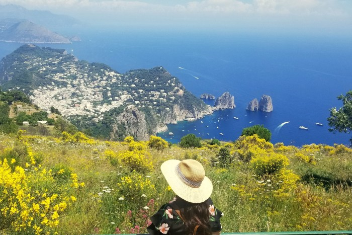 View of Faraglioni from Monte Solare