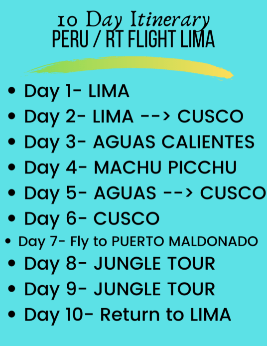 10 day Peru Itinerary