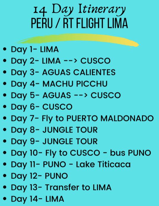14 Day Peru Itinerary