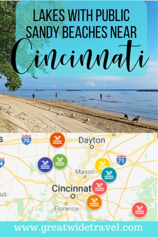 Lakes with Public Sandy Beaches near Cincinnati Ohio