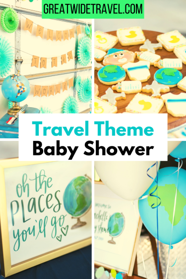 travel theme baby shower, welcome to the world