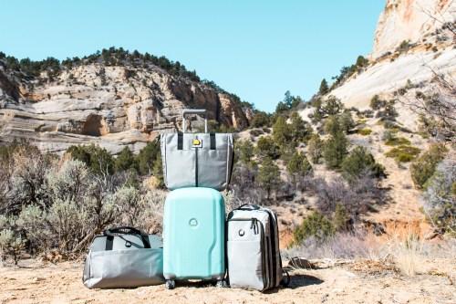 luggage for a roadtrip zion natioanl park