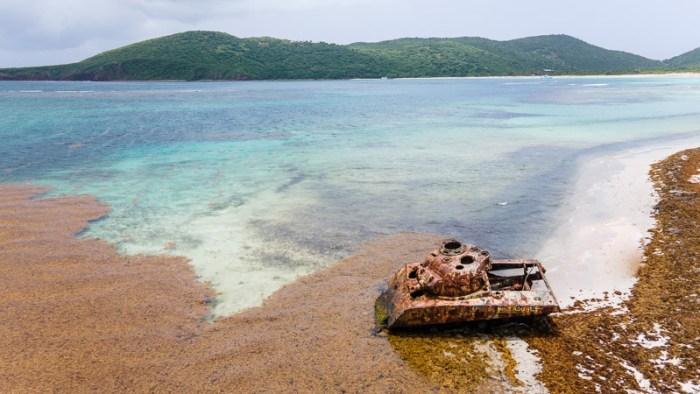 culebra flamenco beach old tanks