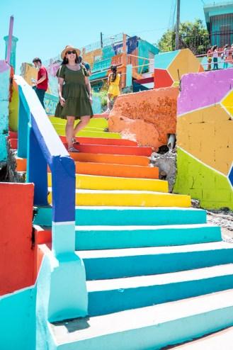 yauco, puerto rico, rainbow, colorful, art