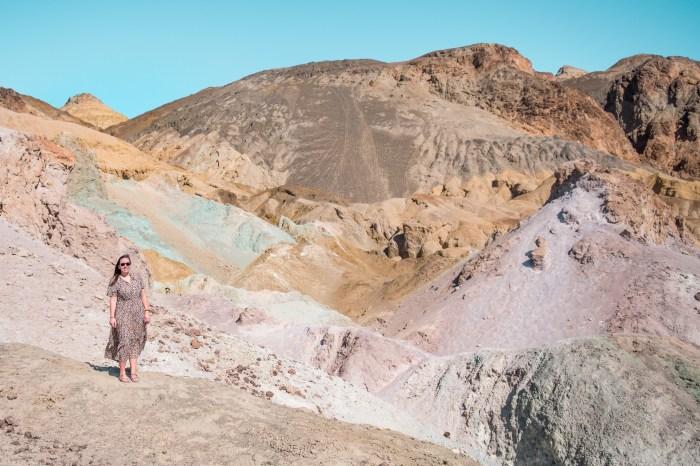 artists palette, rainbow mountain, death valley