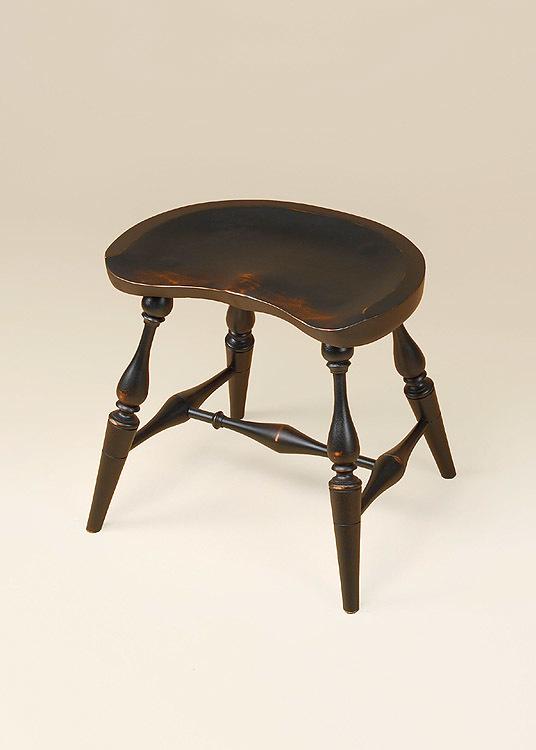 Historical Saddle Seat Windsor Stool