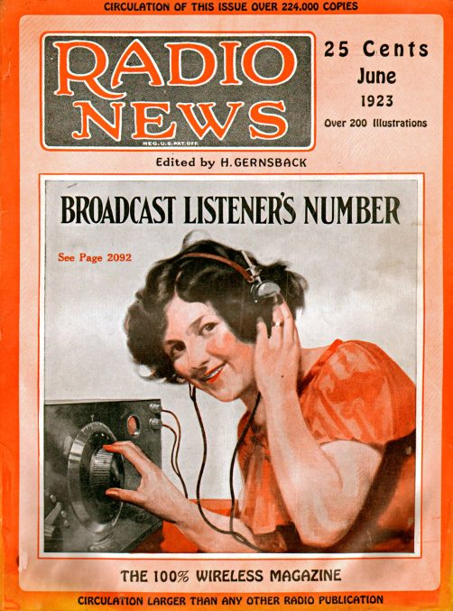 Radio News Cover, June 1923