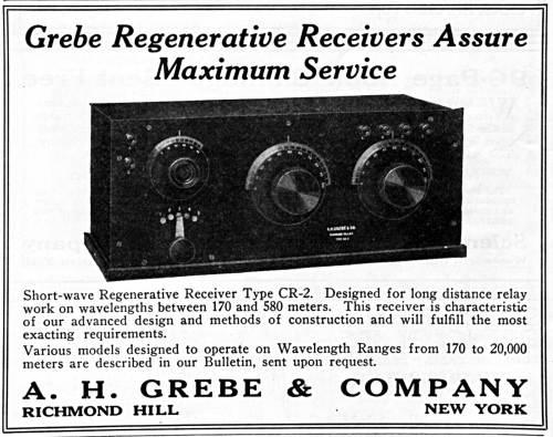 Grebe Radio CR-2 Receiver, 1919.