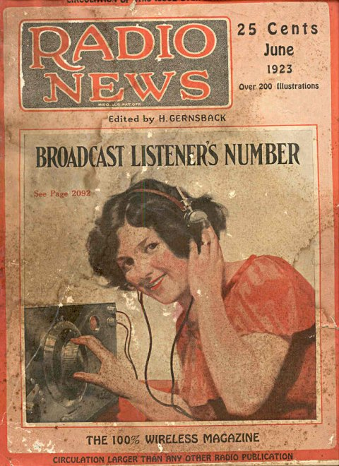 Radio News Front Cover, June 1923