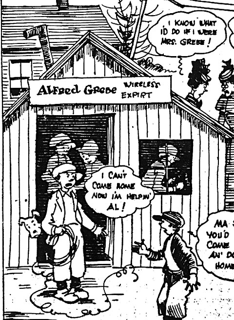 Detail from cartoon from The New York Sun, Jan. 31, 1931