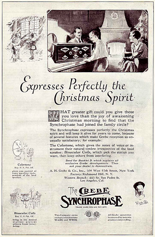 Grebe Radio Christmas Print Advertisement