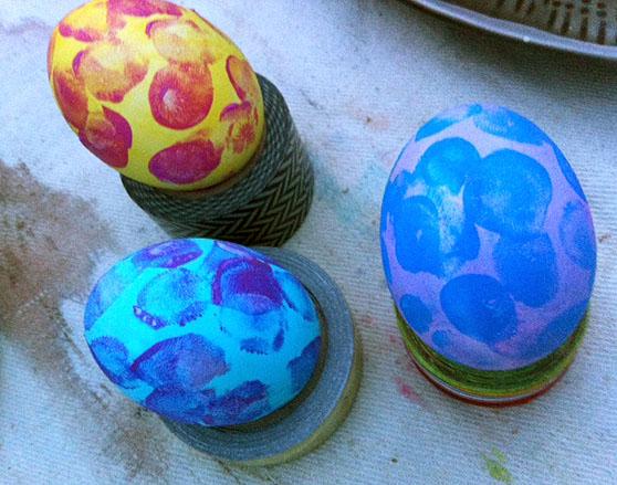 fingerprinted eggs