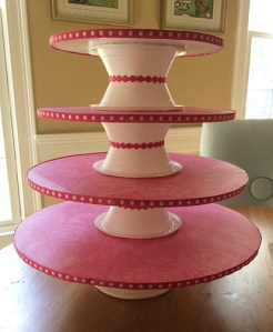 handmade cupcake tower with amazing cupcakes
