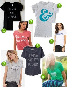 tee shirt trend | wearing your message