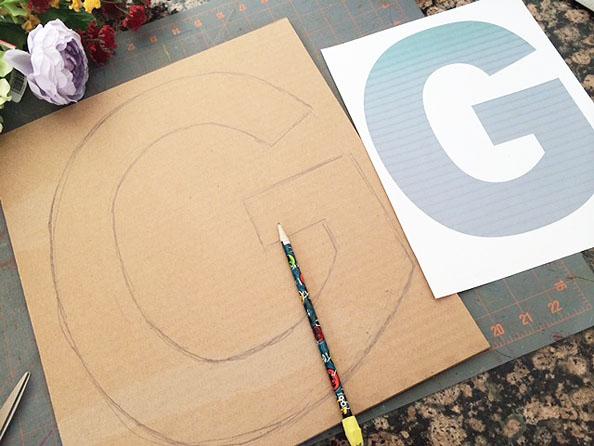 cardboard initial