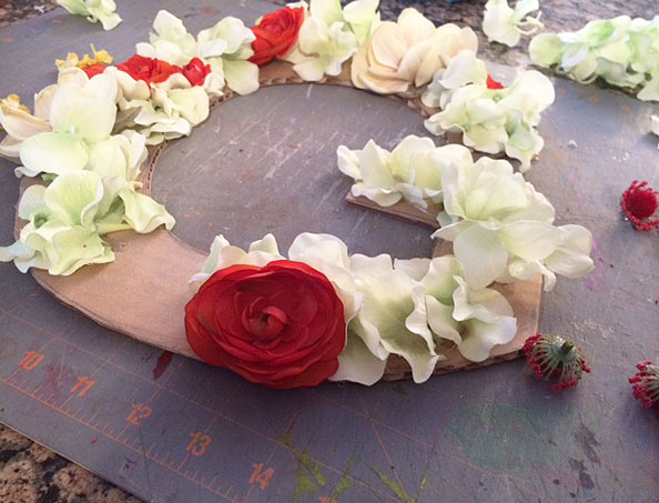 glueing flowers 2